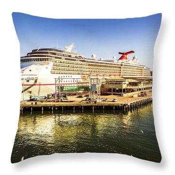 Station Pier Cruise Throw Pillow