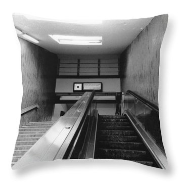 Station Stop  Throw Pillow
