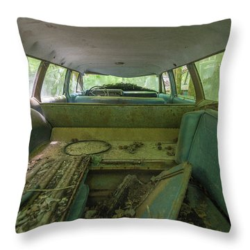 Station Wagon In Color Throw Pillow