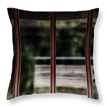 Throw Pillow featuring the photograph Station Window by Brad Allen Fine Art