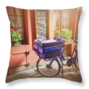 Stationary In Freiburg Throw Pillow