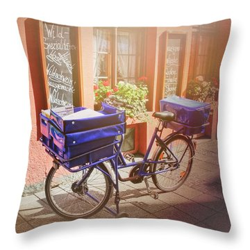 Stationary In Freiburg Throw Pillow by Carol Japp