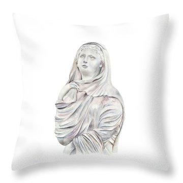 Throw Pillow featuring the painting Statue by Elizabeth Lock