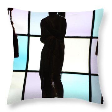 Statue In The Shadows Throw Pillow