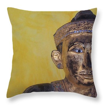 Throw Pillow featuring the photograph Statue by Mary-Lee Sanders