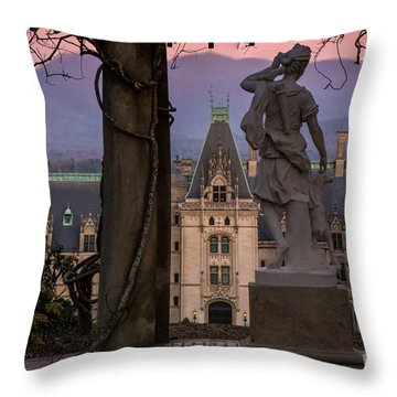 Statue Of Diana Throw Pillow