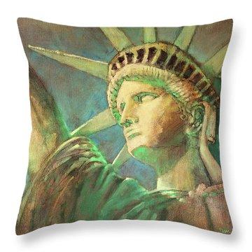 Statue Of Liberty 1 Throw Pillow