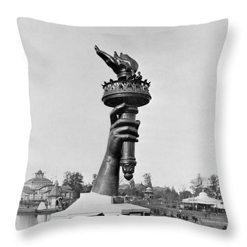 Statue Of Liberty 1876 Throw Pillow by Granger