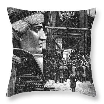 Statue Of Liberty, 1881 Throw Pillow by Granger