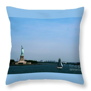 Throw Pillow featuring the photograph Statue Of Liberty by The Art of Alice Terrill