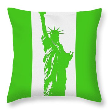Statue Of Liberty No. 9-1 Throw Pillow