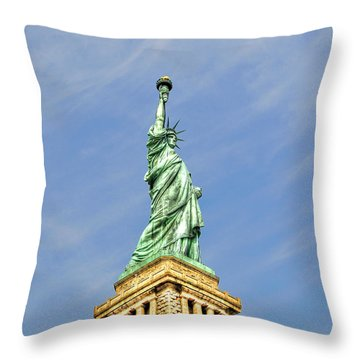 Statue Of Liberty Throw Pillow by Randy Aveille