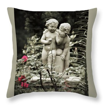 Statue Of Love Throw Pillow