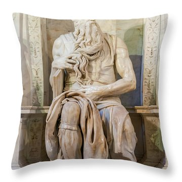 Statue Of Moses Throw Pillow