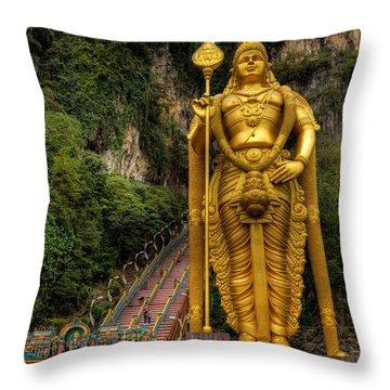 Statue Of Murugan Throw Pillow by Adrian Evans