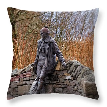 Statue Of Tom Weir Throw Pillow by Jeremy Lavender Photography