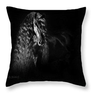 Statuesque Black Beauty Throw Pillow