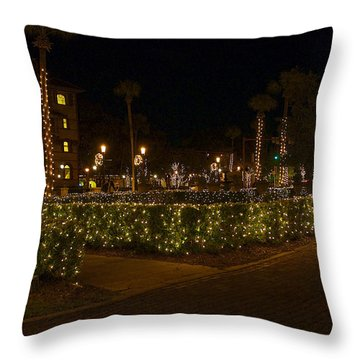 St.augustinelights1 Throw Pillow by Kenneth Albin