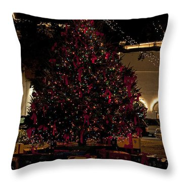 St.augustinelights4 Throw Pillow by Kenneth Albin