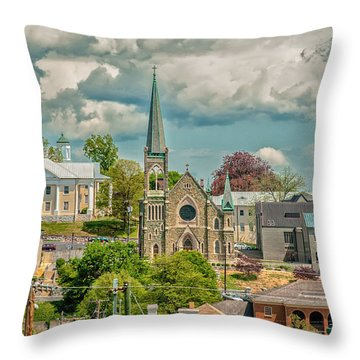 Staunton Cityscape Throw Pillow
