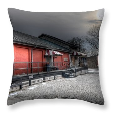 Staunton Va Train Depot Throw Pillow by Todd Hostetter