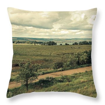 Stausee Kelbra  #nature  #flowers Throw Pillow