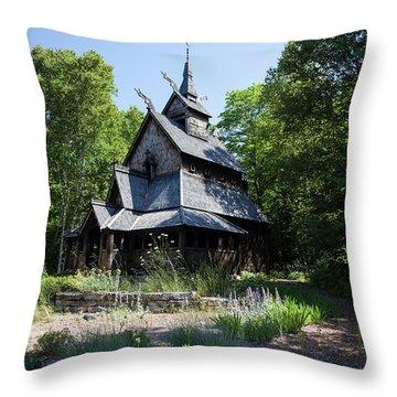 Stavkirke Church Throw Pillow