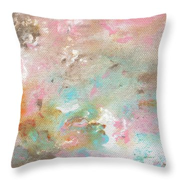 Stay- Abstract Art By Linda Woods Throw Pillow