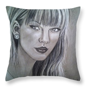 Stay Beautiful Throw Pillow by Maria Ferrante