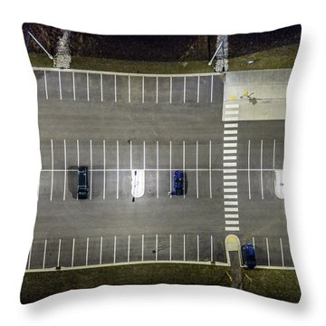 Throw Pillow featuring the photograph Stay Between The Lines by Randy Scherkenbach