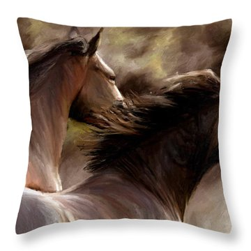 Throw Pillow featuring the painting Stay Together by James Shepherd