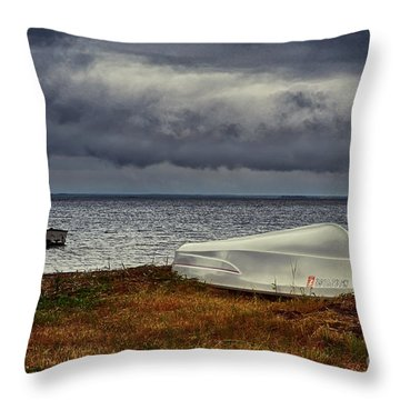 Staying Ashore Throw Pillow by Mark Miller