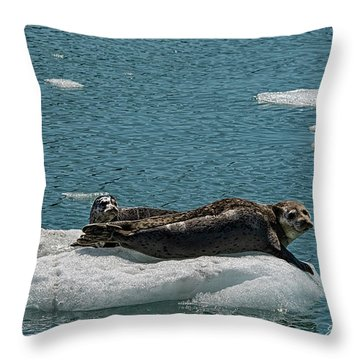 Staying Cool Throw Pillow