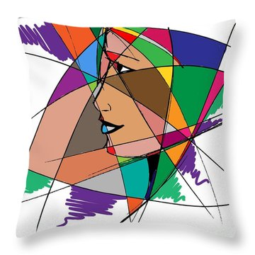 Staying Focused Throw Pillow by Stanley Mathis