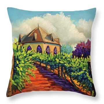 Ste Chappelle Winery Throw Pillow