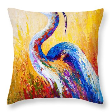 Steady Gaze - Great Blue Heron Throw Pillow
