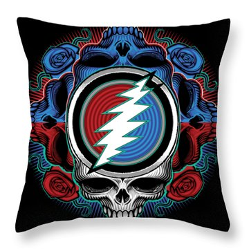 Steal Your Face - Ilustration Throw Pillow