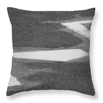 Throw Pillow featuring the photograph Stealing Home by Laddie Halupa