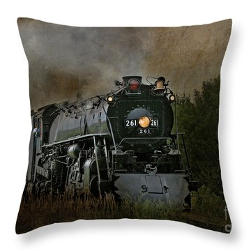 Steam Engine 261 Throw Pillow