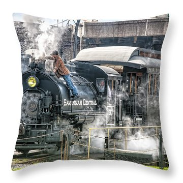 Steam Engine #30 Throw Pillow