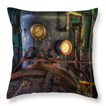 Steam Engine Throw Pillow