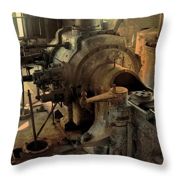 Throw Pillow featuring the digital art Steam Engine No 4 by Robert G Kernodle