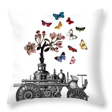 Steam Engine Of Life Throw Pillow