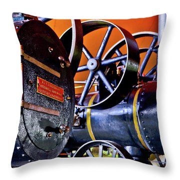 Steam Engines - Locomobiles Throw Pillow
