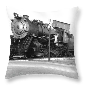Steam In Motion Throw Pillow