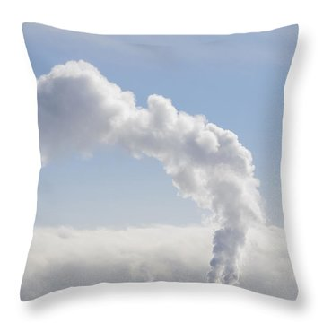 Steam Throw Pillow by Keith Armstrong