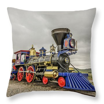 Throw Pillow featuring the photograph Steam Locomotive Jupiter by Sue Smith