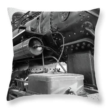 Steam Locomotive Side View Throw Pillow
