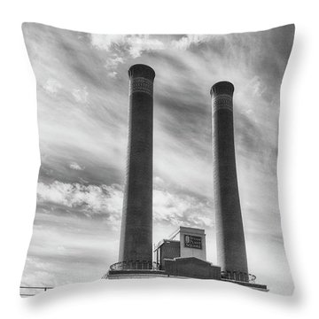 Steam Plant Square Throw Pillow