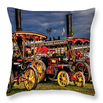 Throw Pillow featuring the photograph Steam Power by Chris Lord